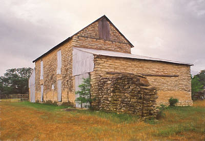 Photograph - Old Rock Barn by David and Carol Kelly