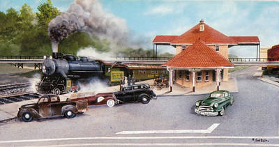 Painting - Old Rock Hill Depot   Sold by Jack Bolin
