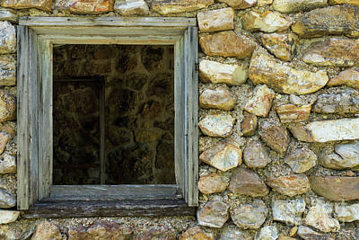 Photograph - Old Rock Wall Window by Jennifer White