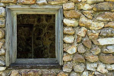 Photograph - Old Rock Wall Window by Jennifer White