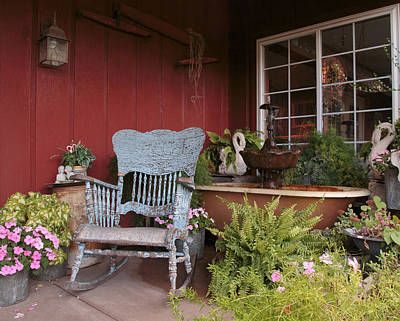 Photograph - Old Rockin' Chair by Susan Rissi Tregoning
