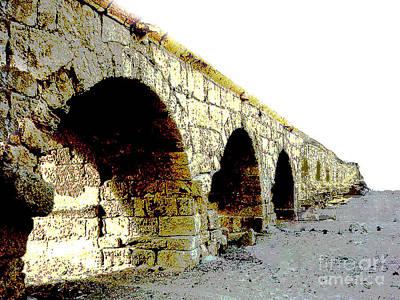 Photograph - Old Roman Aqueduct - Israel Desert by Merton Allen
