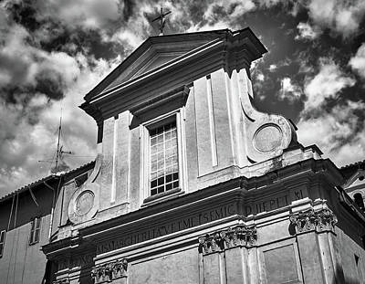 Photograph - Old Roman Building In Black And White by Eduardo Jose Accorinti