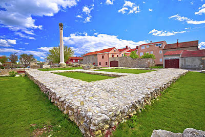 Photograph - Old Roman Ruins And Colorful Architecture In Town Of Nin by Brch Photography