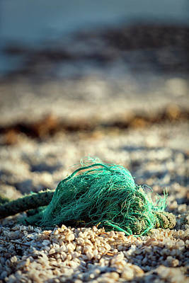 Photograph - Old Rope By The Beach by Mike Santis