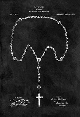 Drawing - Old Rosary Patent by Dan Sproul