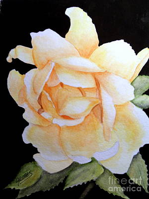 Painting - Old Rose In Yellow by Carol Grimes