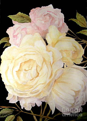 Painting - Old Roses In The Garden 2 by Carol Grimes
