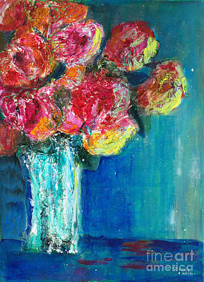 Old Roses Art Print by Veronica Rickard