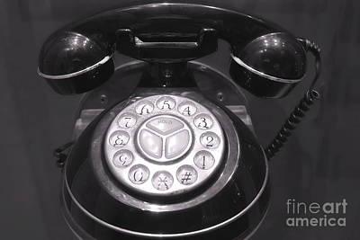 Photograph - Old Rotary Dial Telephone by Yali Shi