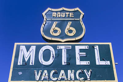 Photograph - Old Route 66 Motel Sign by Garry Gay