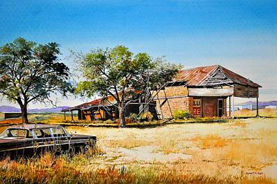 Painting - Old Route 66 by Robert W Cook