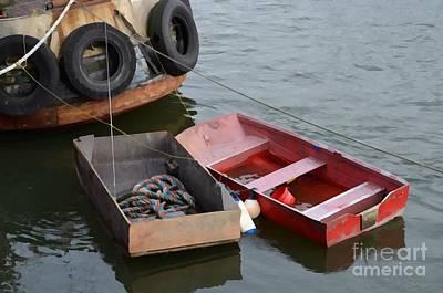 Row Boat Digital Art - Old Row Boats  by Turtle Shoaf