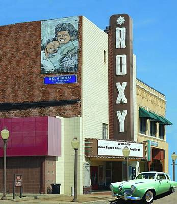 Photograph - Old Roxy Theater In Muskogee, Oklahoma by Janette Boyd