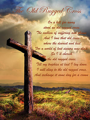 Photograph - Old Rugged Cross by Debra and Dave Vanderlaan