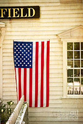 Art Print featuring the photograph Old Rugged Field Flag by Craig J Satterlee