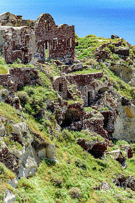 Photograph - Old Ruins In Oia, Santorini, Greece by Global Light Photography - Nicole Leffer