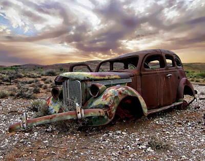 Photograph - Old Rusted Car by Anthony Dezenzio