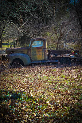 Photograph - Old Rusted Ford Truck by Colleen Kammerer