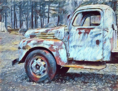 Painting - Old Rusted Truck by Dan Sproul