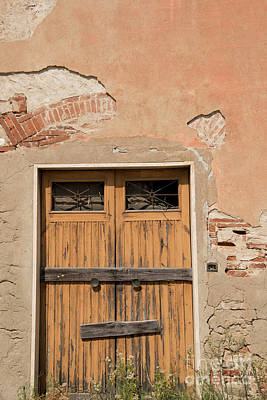 Photograph - Old Rustic Italian Door by Loriannah Hespe