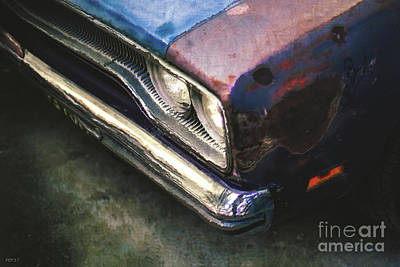 Digital Art - Old Rusty Car by Phil Perkins
