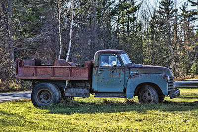 Photograph - Old Rusty Chevrolet Dump Truck  by Alana Ranney