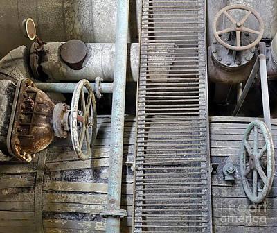 Photograph - Old Rusty Corroded Machinery by Yali Shi