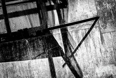 Photograph - Old Rusty Metal And Shadows by John Williams