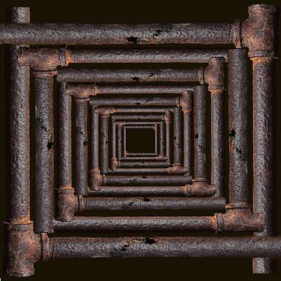 Mixed Media - Old Rusty Pipes by Viktor Savchenko