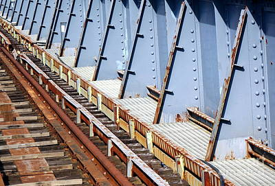 Photograph - Old Rusty Railway Bridge by Yali Shi