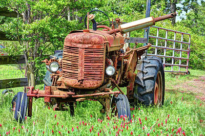 Photograph - Old Rusty Tractor by Savannah Gibbs