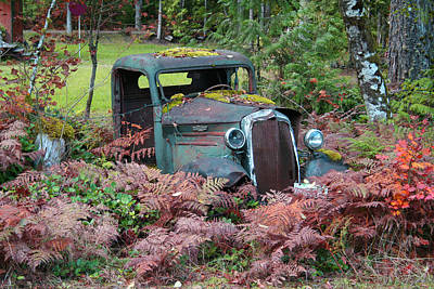 Old Rusty Truck I C1000 Art Print by Mary Gaines