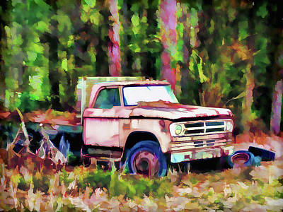 Old Rusty Truck Art Print by Lanjee Chee