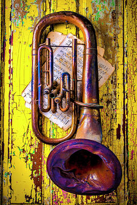 Tuba Wall Art - Photograph - Old Rusty Tuba Still Life by Garry Gay