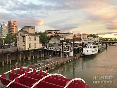 Photograph - Old Sacramento And The Delta King by Jenny Revitz Soper