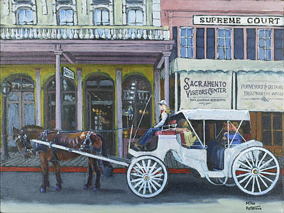 Painting - Old Sacramento Carriage by Mike Patterson