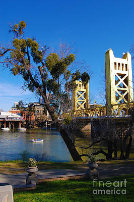 Photograph - Old Sacramento Tower Bridge by Debra Thompson