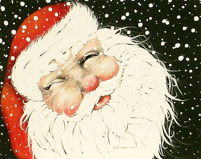 Old Saint Nick Art Print by Paula Weber
