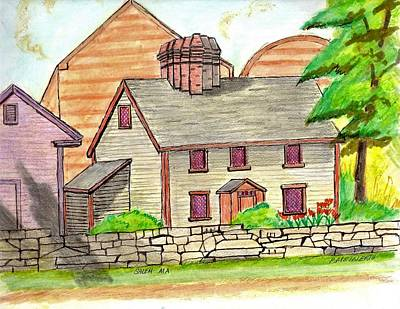 Drawing - Old Salem by Paul Meinerth