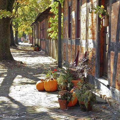 Photograph - Old Salem Sidewalks In Autumn by Matt Taylor
