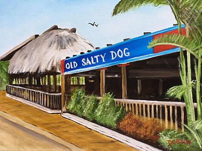 Painting - Old Salty Dog On Siesta Key by Lloyd Dobson
