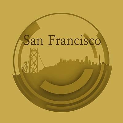 San Francisco Digital Art - Old San Francisco Skyline by Alberto RuiZ