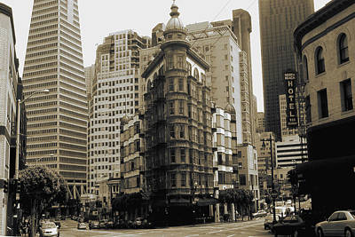 Photograph - Old San Francisco Photo - Columbus Avenue by Peter Potter