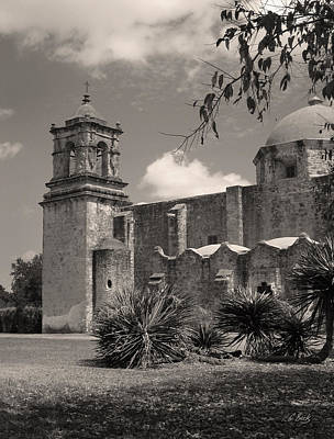 Religious Artist Photograph - Old San Jose Mission, Monochrome by Gordon Beck