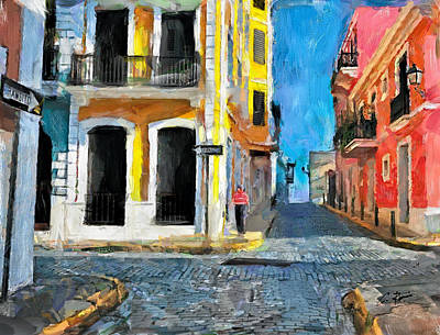 Digital Art - Old San Juan by Charlie Roman