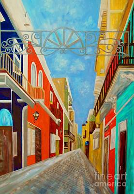 Antique Painting - Old San Juan - Painting by Eloise Schneider
