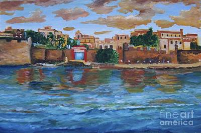 Puerto Rico Painting - Old San Juan Gate, 4x6 In. Original Is Sold by Alicia Maury