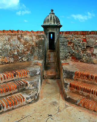 Puerto Rico Photograph - Old San Juan Gaurd Post by Perry Webster