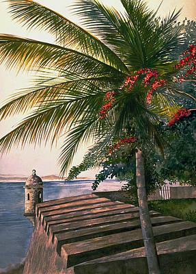 Old San Juan  Art Print by George Bloise